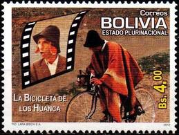 Bolivia 2012 CEFIBOL 2166 ** Televisión Y Cine Nacional: La Bicicleta De Los Huanca (1989-92 Roberto Calasich) - Bolivia