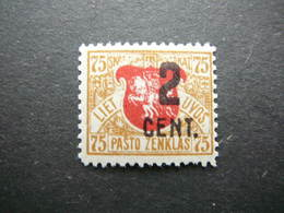 Lietuva Litauen Lituanie Litouwen Lithuania # 1922 MH # Mi. 150 - Lituanie
