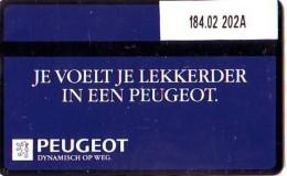 Telefoonkaart  LANDIS&GYR  NEDERLAND * RCZ.184.02  202A * Peugeot * AUTO * VOITURE * TK *  ONGEBRUIKT * MINT - Auto's