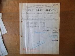 KRUTH HAUT-RHIN E. FLIELLER-HAVE SCIERIE MECANIQUE ET COMMERCE DE BOIS FACTURE DU 19 DECEMBRE 1932 - France