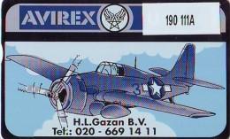 Telefoonkaart  LANDIS&GYR  NEDERLAND * RCZ.190  111A * AVIREX * AIRPLANE * TK *  ONGEBRUIKT * MINT - Vliegtuigen