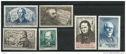 """FR YT 541 542 544 545 550 551 """" Personnalités """" 1942 Neuf* - Frankreich"""
