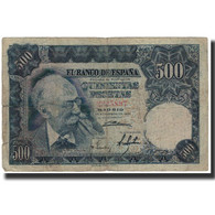Billet, Espagne, 500 Pesetas, 1951-11-15, KM:142a, B - [ 3] 1936-1975 : Regency Of Franco