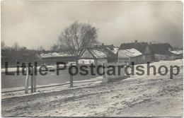 Foto AK Pruzana Russland Dorf Ansicht Im Winter Ca. 1916 Pruschany Belarus Pruzhany - Guerra 1914-18