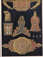 L'ORNAMENT GREC DE LA DECADENCE. TRESOR DE PETROSA.-ART HISTORY LAMINA SHEET PLANCHE-BLEUP - Afiches
