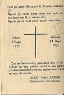 DP22/. 1e H.MIS  ARDOOIE 1955  E.P.J.VAN ACKER  SCHEUTIST - Religion & Esotericism
