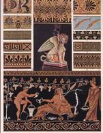 L'ORNEMENT GREC. PEINTURE DE VASES.-ART HISTORY LAMINA SHEET PLANCHE-BLEUP - Posters
