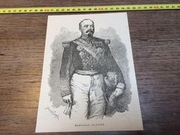 1870/1871 GRAVURE MARECHAL BAZAINE - Vecchi Documenti