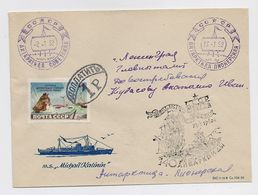 ANTARCTIC Pionerskaya Station Base 4 SAE Pole Mail Cover USSR RUSSIA Sovetskaya VERY RARE - Research Stations