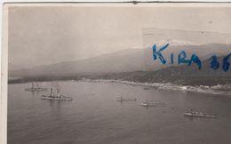 Taormina Navi Militari In Rada Foto Galifi Crupi 11.08.1924 Flotta Nave Militare - Autres Villes