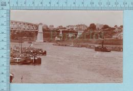 Vraie Photo,  Yvelines Conflans Fin D'oise Le Port Et Le Pont Eiffel,  - Carte Postale - Conflans Saint Honorine
