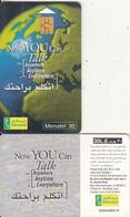 EGYPT - Earth, Now You Can Talk, Menatel Telecard 30 L.E., CN : 0004, Chip GEM3.1, Used - Egypt