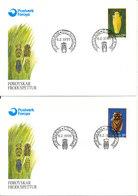 Faroe Islands FDC 6-2-1995 Complete Set CICADA's On 4 Covers With Cachet - Faroe Islands