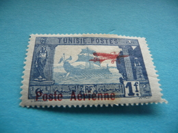 TIMBRE   TUNISIE   POSTE  AERIENNE   N  3      COTE  1,25   EUROS   NEUF  TRACE  CHARNIERE - Airmail