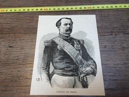 1870/1871 GRAVURE MARECHAL MAC MAHON - Vecchi Documenti
