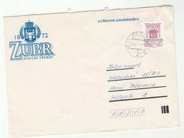 1999 CZECH REPUBLIC Stamps COVER ADVERT Illus ZUBR Cow Emblem - Covers & Documents
