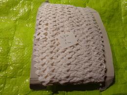49 M Environ De Croquet Coton Blanc Larg 1 Cm De Large Pour Agrementer Robe De Poupee - Dentelles Et Tissus