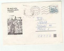 1993 TEREZINE GHETTO WWII Czech Republic EVENT COVER UNESCO Stamps Jewish Jew Judaica Holocaust - Seconda Guerra Mondiale
