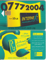 EGYPT - 07772004 InterneXt(new Design), Menatel Telecard 10 L.E., CN 0160, Chip Incard 4, Used - Egypt