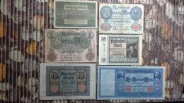 Lot Geldscheine Deutsches Reich - [ 3] 1918-1933 : Repubblica  Di Weimar