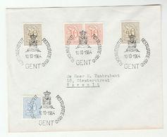 1964 Belgium STATE UNIVERSITY RESTORATION EVENT COVER Stamps  Heraldic - Belgium
