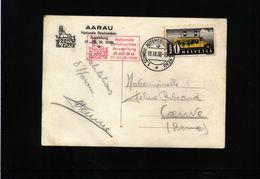 Schweiz / Switzerland 1938 National Philatelic Exibition Aarau Interesting Postcard - Schweiz