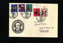 Schweiz / Switzerland 1954 Interesting Cover Tag Der Briefmarke - Schweiz