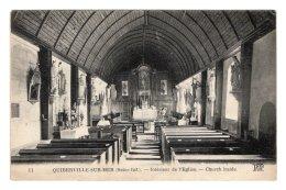 CPA   76   QUIBERVILLE-SUR-MER----INTERIEUR DE L'EGLISE - Frankrijk