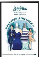 F - New !! Publicité Magazine J.P Gaultier - Gaultier Airlines - Duty Free (28 Cm X 18,5 Cm) - Cartes Parfumées