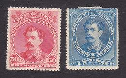 Costa Rica, Scott #30-31, Mint Hinged, Alfaro, Issued 1889 - Costa Rica