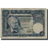 Billet, Espagne, 500 Pesetas, 1951-11-15, KM:142a, B+ - [ 3] 1936-1975 : Regency Of Franco