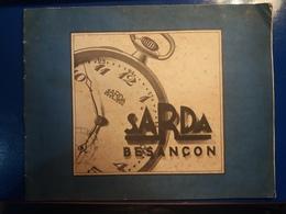 SARDA CATALOGUE 1930 BESANCON  MONTRE CHRONOMÈTRE PENDULETTE  MONTRES AUTOS - Juwelen & Horloges