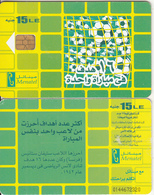 EGYPT - Football/Many Balls, Menatel Telecard L.E.15, CN : 0144, Chip Incard 4, Used - Egypt