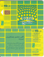 EGYPT - Football/Crowd Of People, Menatel Telecard L.E.15, CN : 0144, Chip Incard 4, Used - Egypt