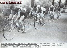 PHOTOGRAPHIE ANCIENNNE TOUR DE FRANCE 1958 Van Geneugden Anglade Gainche Piet Van Est Hoevenaers CYCLISME SPORT CYCLISTE - Sports