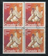 1975 15 Cent + 5 Cent Semi Postal Stamp #B9  Block Of 4 - Unused Stamps