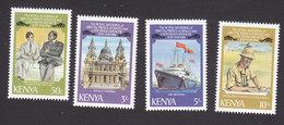 Kenya, Scott #194-197, Mint Hinged, Royal Wedding, Issued 1981 - Kenya (1963-...)