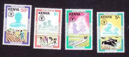 Kenya, Scott #203-206, Mint Hinged, World Food Day, Issued 1981 - Kenya (1963-...)