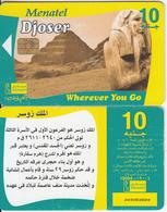 EGYPT - Historic Tombs/Djoser, Menatel Telecard 10 L.E., CN : 349(thin), Chip Incard 4, Used - Egypt