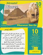 EGYPT - Historic Tombs/Djoser, Menatel Telecard 10 L.E., CN : 348(thin), Chip Incard 4, Used - Egypt