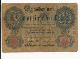 Germany 20 Mark 1910 - [ 2] 1871-1918 : German Empire