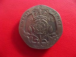 Royaume-Uni - UK - 20 Pence 1982 7579 - 1971-… : Monnaies Décimales