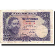 Billet, Espagne, 25 Pesetas, 1954-07-22, KM:147a, TB+ - [ 3] 1936-1975 : Regency Of Franco