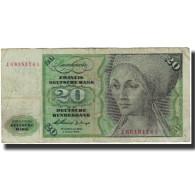 Billet, République Fédérale Allemande, 20 Deutsche Mark, 1960-01-02, KM:20a - 20 Deutsche Mark