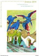 """"""" UNESCO 2014 : BRESIL / ITALIE """" Sur Doc. Philatélique Officiel 1°Jour De 4 Pages. N°YT SERV 161 162. Parf état. DPO - FDC"""