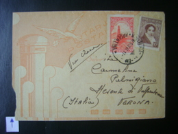 ARGENTINA - LETTER FROM MAR DEL PLATA TO VERONA (ITALY) IN THE STATE - Lettres & Documents
