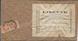 Pub Journal Lisette Sur Lettre Avec 2 Timbre Blanc 3 C Orange De 1932 Pour Préveranges - Otros