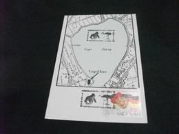 STORIA POSTALE  FRANCOBOLLO VIET NAM CARTA GEOGRAFICA LAGO PATRIA   LAGOMARE 1993 GIUGLIANO IN CAMPANIA - Carte Geografiche