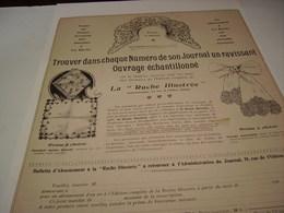 ANCIENNE PUBLICITE LA RUCHE ILLUSTRE 1904 - Vintage Clothes & Linen