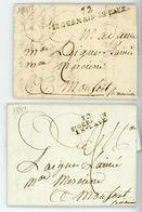 SEINE ET OISE LAC 1801 ET 1802 LOT DE 2 MARQUE DE ST GERMAIN EN LAYE DIFFERENTES - Marcophilie (Lettres)